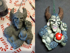 Krampus Christmas Ornament. Hand sculpted and cast. Unpainted resin kit.