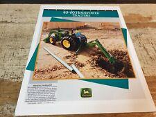 1993 JOHN DEERE 40 - 60hp  Tractors Original Sales Brochure