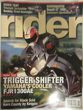 Rider Magazine August 2006 Trigger Shifter Yamaha's Cooler FJR1300AE Triumph Scr