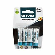4PC ENVIE 1000 MAH RECHARGEABLE AA BATTERIES FOR WALL CLOCKS, TOYS AND GADGETS