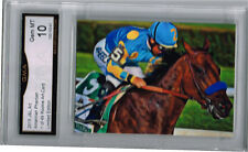 2015 American Pharoah Horse Racing Art Card  of 49 Gem Mint 10