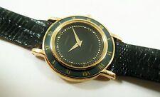 Lassale by Seiko Gold Tone Metal Black 4N00-1050 Lizard Sample Watch NON-WORKING