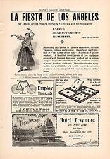 1896 LA FIESTA DE LOS ANGELES CHAMBER OF COMMERCE AD