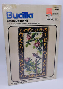 "Bucilla Oriental Panel I Latch Hook Kit 13061 Rug Wall Hanging 15"" x 30"" Sealed"