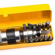 13pcs Reversible Impact Driver Bits Screwdriver Set Hand Tool Socket Kit +Case