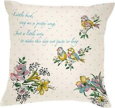 KATIE ALICE Bird Song SMALL Shabby Chic SCATTER CUSHION
