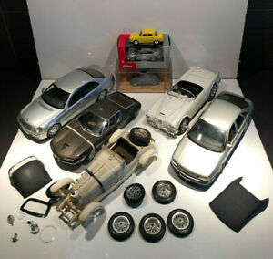 1/43 1/18 KYOSHO AUTOART BURAGO SOLIDO NOREV LOT VOITURES ACCIDENTS PIECES