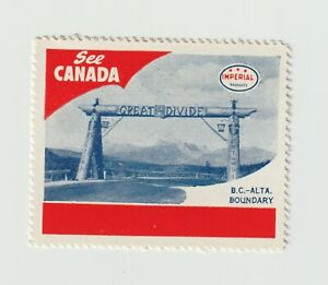 See Canada- BC-ALTA boundary poster stamp MNH