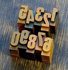 0-9 Zahlen 18mm Plakatlettern letterpress Letter Ziffern Stempel Zahl Handsatz