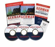 Complete German : The Basics course by Living Language 2 books 3 CDs