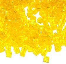 SB8209 Yellow Transparent 4mm Square Cube Miyuki Glass Seed Beads 12-grams