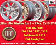 4 Cerchi FIAT Minilite 2 pc. 6x13 + 2 pc. 7x13 4x98 Wheels Felgen Llantas Jantes