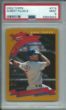 2002 TOPPS BASEBALL #719 ALBERT PUJOLS ST LOUIS CARDINALS FUTURE HOF PSA 9 MINT