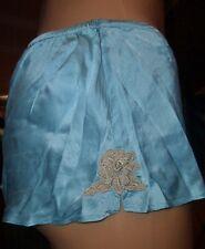 Vintage la Senza Wäsche Set 100 % Seide Schlüpfer Panty + Hemd Gr. 38 (E448)