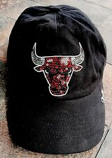 47 FOURTY SEVEN Brand NBA Sequin Bling CHICAGO BULLS Baseball Hat Cap SnapBack