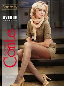 Luxurious Women's Tights With Pattern Avenue Gold Silver Conte Fantasy