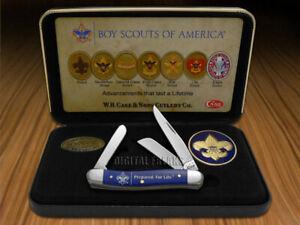 Case xx Boy Scouts Medium Stockman Knife Dark Blue Delrin 18037