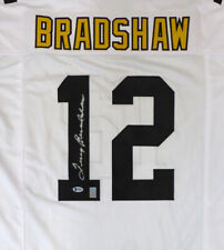 STEELERS TERRY BRADSHAW AUTHENTIC AUTOGRAPHED SIGNED WHITE JERSEY BECKETT 129838