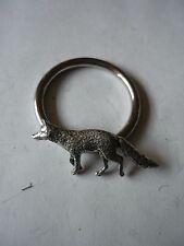 Fox codeppa23  Made From Fine English Pewter on a Scarf Ring