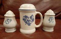"Pfaltzgraff~Yorktowne~ Stove Top Shaker~6-3/4"" High, salt and pepper shaker set"
