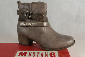 Mustang Women's Boots Ankle Boots Taupe / Braun 1197 New