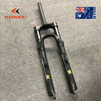"KRSEC Air Suspension Forks 26/27.5/29"" Bike MTB Bike 1-1/8"" Disc 9mm QR Aluminum"
