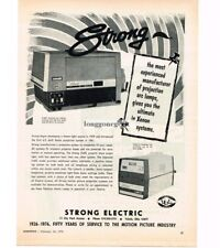 1976 Strong X-60C Xenon Light Source Movie Theater Drive In Vtg Print Ad