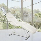 White Reclining Hydraulic Facial Bed Adjustable Salon Massage Table Barber Chair
