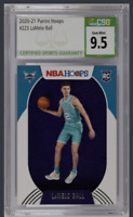 LaMelo Ball 2020-21 NBA Hoops CSG 9.5 GEM MINT Rookie #223 Hornets GEM!