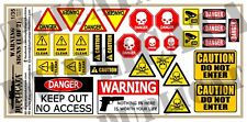 Diorama/Model Accessory - 1/35 Warning/Caution/Danger Signs (2 Sheets)