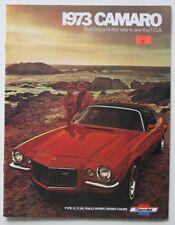 CHEVROLET Camaro 1973 dealer brochure - English - USA - ST1002000418