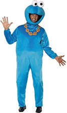 Blue Cookie Monster Sesame Street Mens Fancy Dress Adult 1980s TV Costume ELC