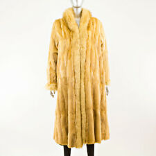 Green wool coat reversible to Red fox - Size S (Vintage Furs)