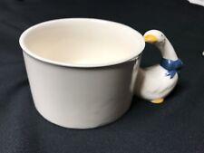 House Of Lloyd Goose Handle Ceramic Handpainted Coffee Cup Mug/Soup Bowl