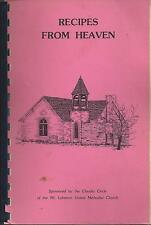 * GREENFIELD IN 1978 MT LEBANON METHODIST CHURCH COOK BOOK * RECIPES FROM HEAVEN