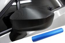 Premium Espejo Carcasas Espejo Tapa Diseño Lámina Carbono Azul Muchas Vehículos