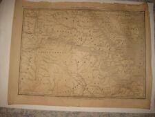 LARGE ANTIQUE 1862 RICHMOND PETERSBURG HAMPTON VIRGINIA DATED CIVIL WAR MAP RARE