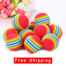 1 Pcs Rainbow Ball Cat Toy Colorful Ball Interactive Pet Cat Dog Chew Toys Ball