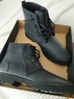 UGG HARKLAND BLACK TNL SUEDE WATERPROOF LACE UP MEN'S BOOTS SIZE US 13/UK 12 NEW