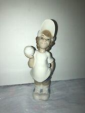 "Lladro ""Tennis Player Puppet� #4966 Glossy Finish"