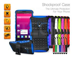 For Samsung Models Shockproof Tough Strong Case Built-in Stand & Mini Pen