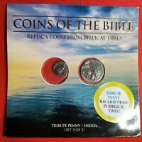 "Set of 2 Ancient Biblical Fantasy Coins / Whitman Packet ""Coins Of The Bible #3"""