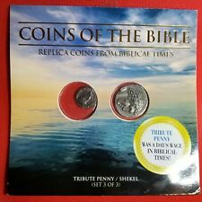 """Set of 2 Ancient Biblical Fantasy Coins / Whitman Packet """"Coins Of The Bible #3"""""""