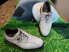 Footjoy Dryjoys Tour Golf shoes Men SZ 10 M Optiflex Platform Albino Gator Embos