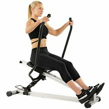 Full Motion Rowing Machine Slide Rower LCD Monitor, 5 Incline Levels Home Gym