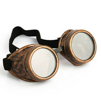 Vintage Victorian Steampunk Goggles Glasses Welding Cyber Punk Gothic Cosplay SD