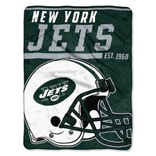 "New NFL New York Jets Soft Micro Rasche Large Throw Blanket 46"" X 60"""