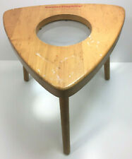 Vintage Mid Century Creative Playthings Magnifying Lens Wood Stool
