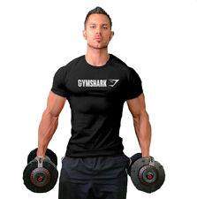 Men Gym shark Stringer T-Shirt Top Gymshark Bodybuilding Slim Cut Fitness Male