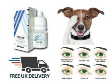 Tobrex eye drops antibacterial suitable for cats, dogs, pets - tear stains off